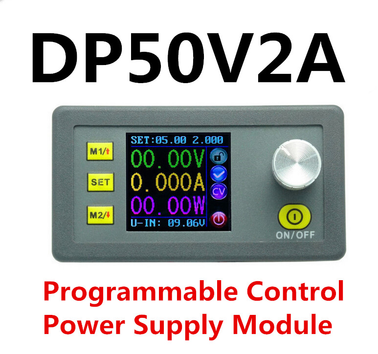 DP50V2A voltmeter ammeter LCD display Volt Current Step-down Programmable DC Supply module buck Voltage regulator converter dc dc 4 5 23v to 0 20v 2a buck step down converter power supply module with lcd display voltmeter ammeter watt meter