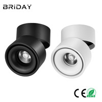 Surface Mounted Mini Embedded COB LED Downlights 5W 7W 360 degree rotation LED Ceiling Lamp Spot Light Downlight AC85 265V
