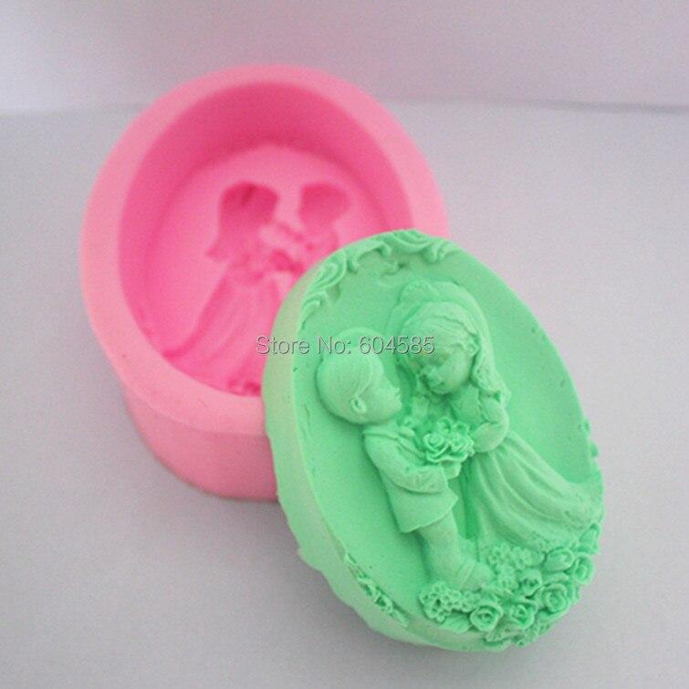 """3,"""" Свадебная 0820 Ремесло Искусство Силиконовые формы для мыла ремесленные формы DIY"""