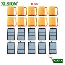 XLSION 10 ชุดกรองอากาศ + กรองสำหรับ Stihl TS410 TS420 TS 410 TS 420 TS480i TS500i คอนกรีต cutoff Cut Off Saw