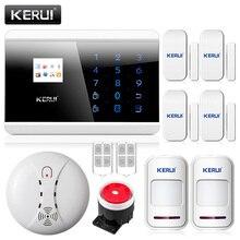 Kerui 433 мГц Беспроводной пожарная сигнализация для домашнего безопасности IOS приложение для Android Управление GSM PSTN сигнализации безопасности дома