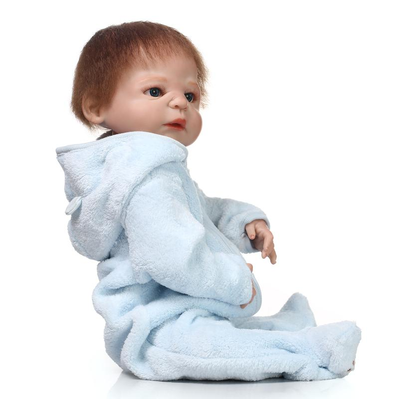 23Inch Full silicone body Reborn Babies Boy Doll Handmade 57cm full silicone body reborn babies girl for children girls gifts christmas gifts in europe and america early education full body silicone doll reborn babies brinquedo lifelike rb16 11h10