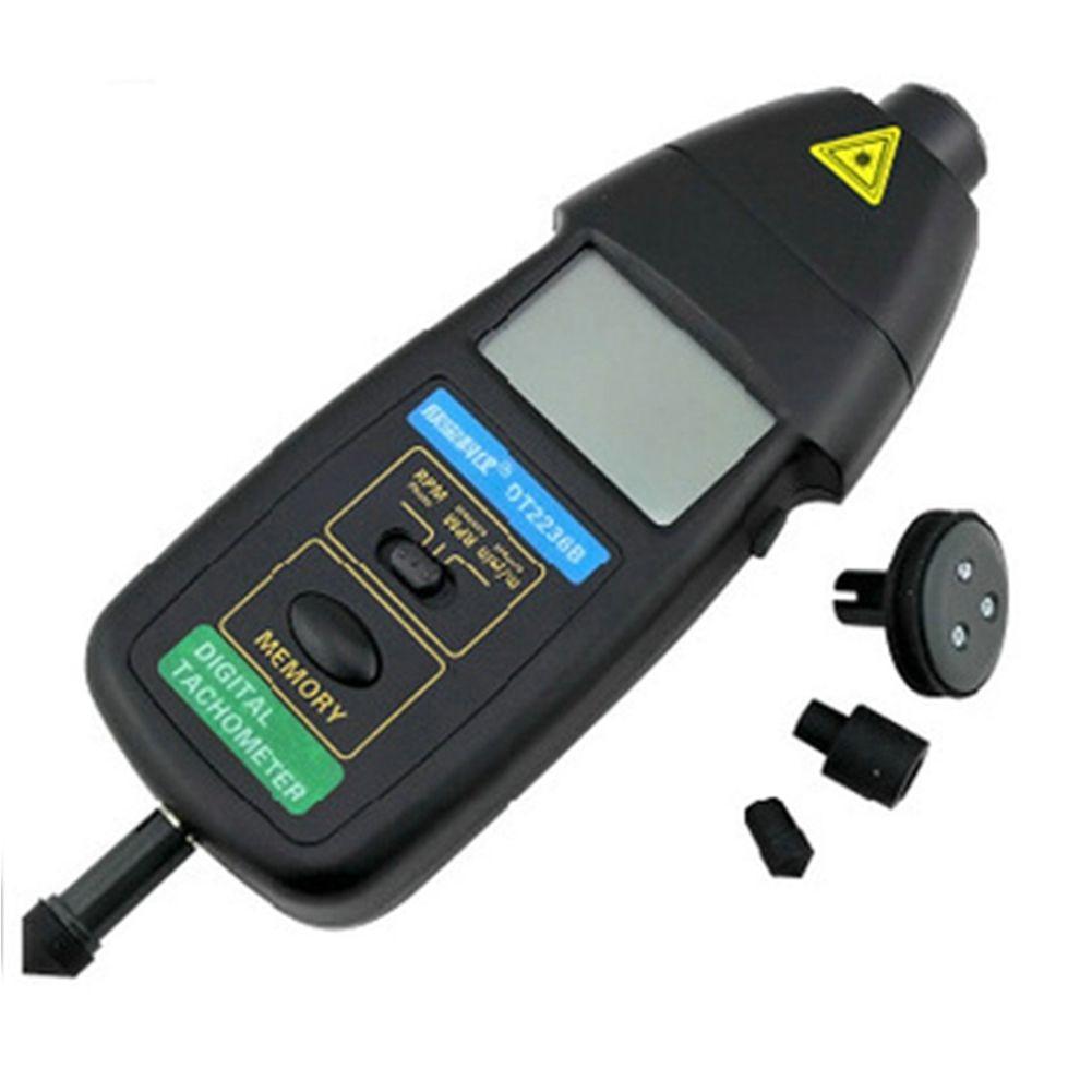 xinbaokeyi 5 pcs DT2236B 2in1 Digital Laser Photo Contact Tachometer 99.999 RPM laser type tachometer portable digital tachometer
