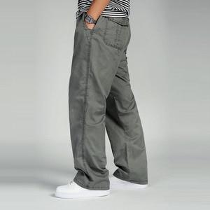 Image 4 - Bawełna mężczyźni joggersy cargo spodnie w pasie spodnie wojskowe moda męska luźne kombinezony na co dzień Plus rozmiar 3XL 4XL 5XL 6XL