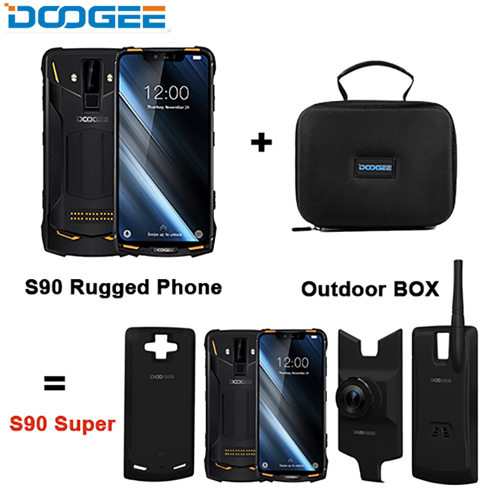 DOOGEE S90 Rugged Smartphone GSM/WCDMA/LTE 6.18inch Cellphones IP68/IP69K 5050mAh Helio P60 Octa Core 6GB 128GB 16MP Camera