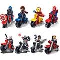 Мстители Marvel DC Super Hero Строительные Блоки кирпич детей Игрушки Супермен Бэтмен человек-паук legoes совместимость