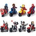 Blocos tijolos crianças brinquedos avengers marvel dc super hero superman spiderman batman legoes compatível
