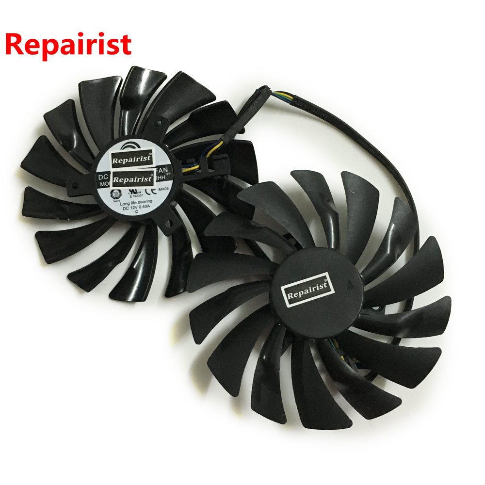 2pcs/lot computer radiator VGA cooler fan For MSI gtx 960 950 GTX950 GTX960 GAMING video Graphics Card GPU cooling free shipping 90mm fan 4 heatpipe vga cooler nvidia ati graphics card cooler cooling vga fan coolerboss