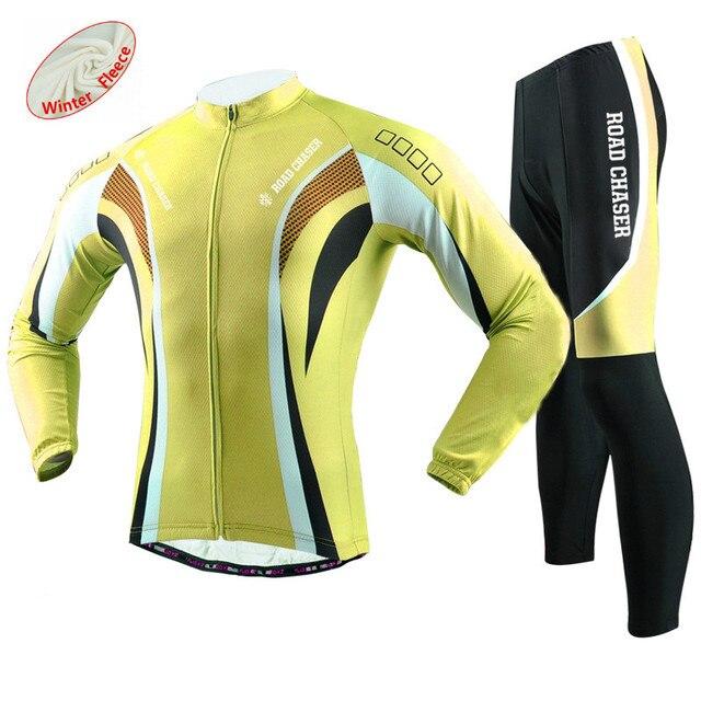 e9fa9e008 Winter Fleece Long Sleeve Cycling Jersey Pro Team Mens Racing Sport Bicycle  Bike Clothing Thermal MTB Bike Jersey Cycling Sets