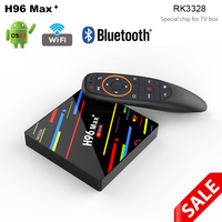 Newest android voice tv box h96 max plus android 8.1 4gb 46gb bluetooth 2.4G/5G wifi support youtube facebook skype set top box