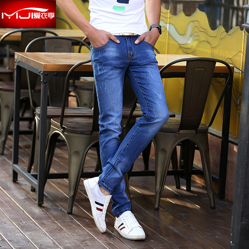 2018 feet stretch jeans male youth fashion fashion cultivate ones morality pants