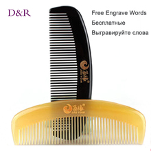 D&R Tangle Elite Hair Brush Pocket Homeuse Horn Comb OX Sheep Horn Anti Static Health Care Masager
