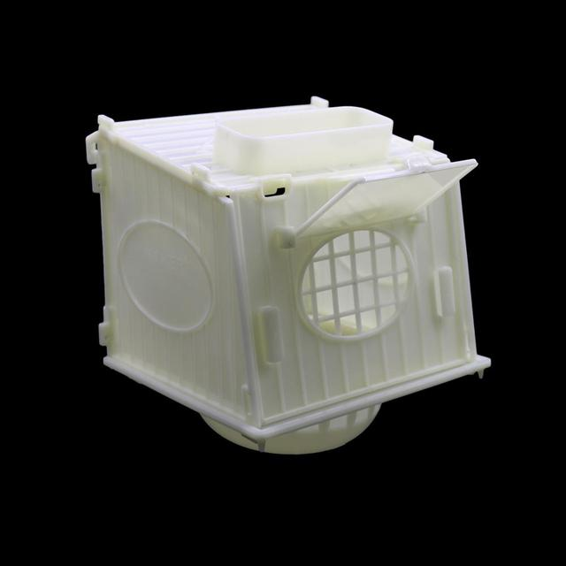 1 Pcs Bird Cage Bird House Parrot Cage White High Quality Plastic Pet Bird's Nest Removable 2