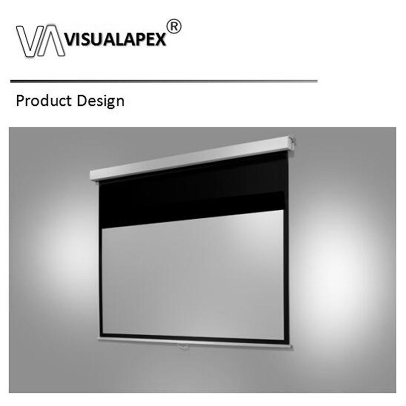 Manual Projector Screen Retractable Ceiling Mounted 72 In 4:3 Indoor Home