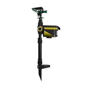 Image 2 - UPGRADED Solar powered Motion Activated Animal Repeller Garden Sprinkler Scarecrow,Animal Deterrent