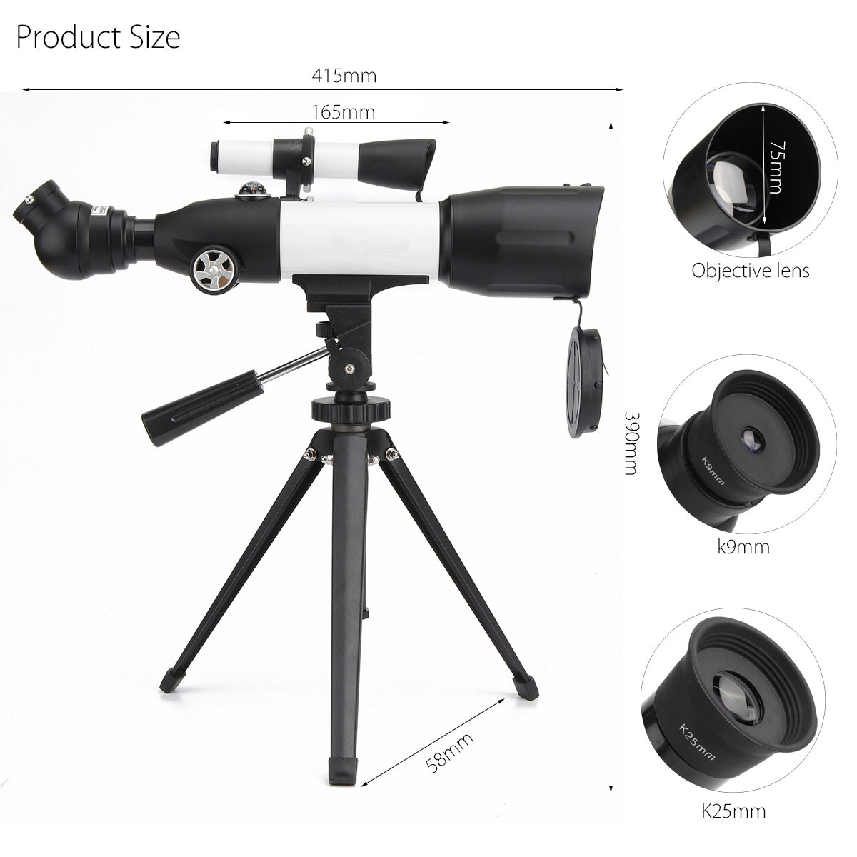 High Quality CF50350 350X50mm Astronomical Telescope Spotting Scope Monocular HD Optic Lens For Camping Hiking Outdoor Tool 40x60 hunting monocular telescope zoom optic lens binoculars spotting scope coating lenses dual focus optic lens
