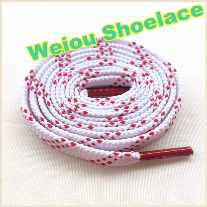 """Weiou Brand New white flat shoelaces fashion flat athletic shoelaces football boot laces red shoe laces 125cm/49"""""""