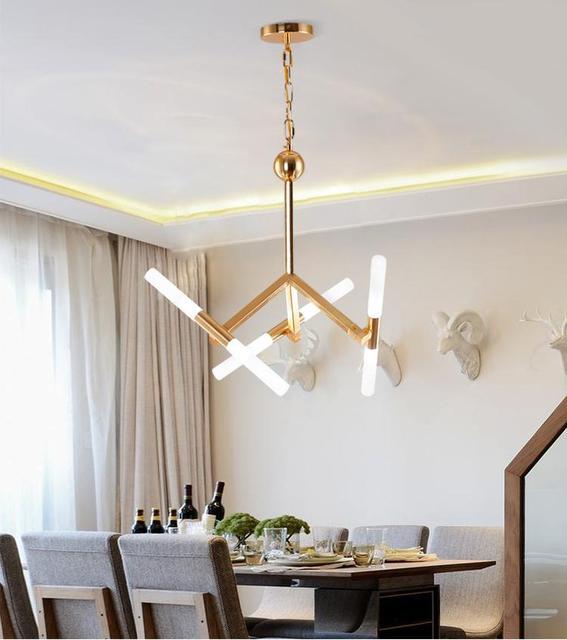 PostModern Profiled Gold Led Light Sconce Acrylic Restaurant Dining