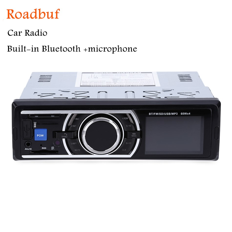 2018 Autoradio 1Din Auto Radio MP3 Stereo Bluetooth Player Con Telecomando di Controllo AUX-IN Lettore Audio USB SD Porta Elettronica per l'auto