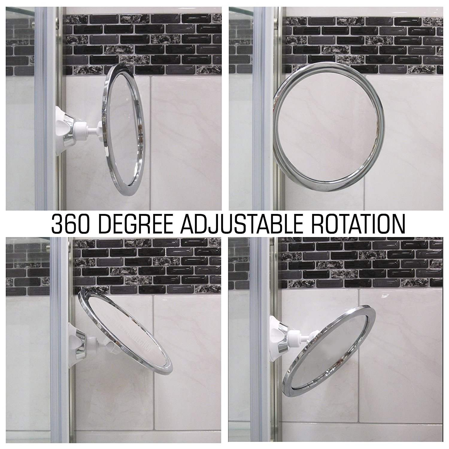 173mm 360 Degree Rotating Round Fogless Shaving Mirror Bathroom Shower With Locking Suction Anti Fog Decorative In Mirrors From