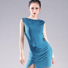 ba711e2fa5579 Simple vestido de baile latino para mujer adulto profesional puro vestidos  de Color de las mujeres sin mangas Chacha Samba traje.