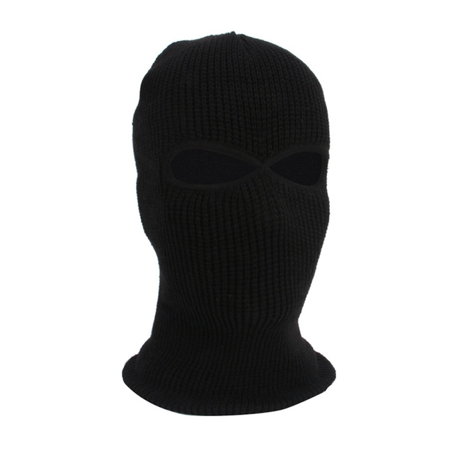 2/3 Hole Full Face Cap Outdoor Balaclava Riding Motorcycle Mask Knitting Face Mask Ski Mountaineering Head Cover 2