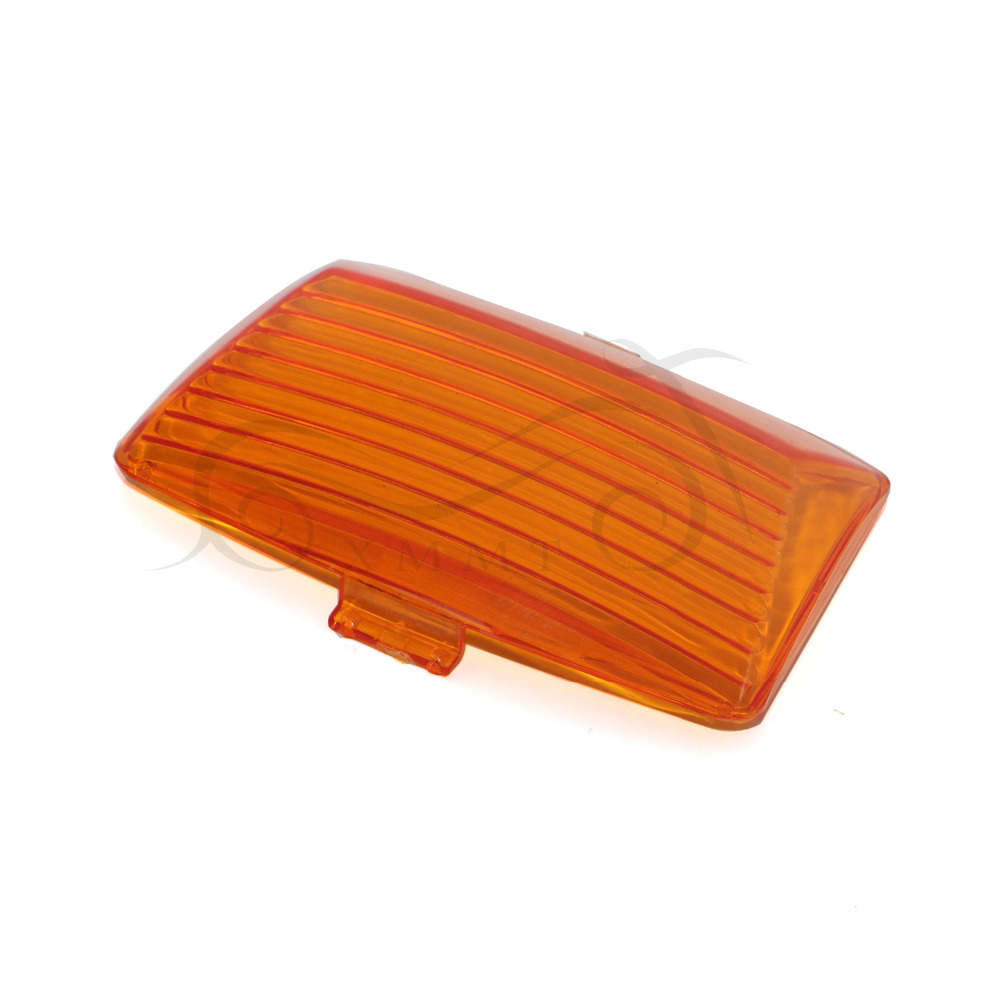 2Pcs Turn Signal Lens Cover Fit for Harley Electra Glide Road King 86-18 Amber