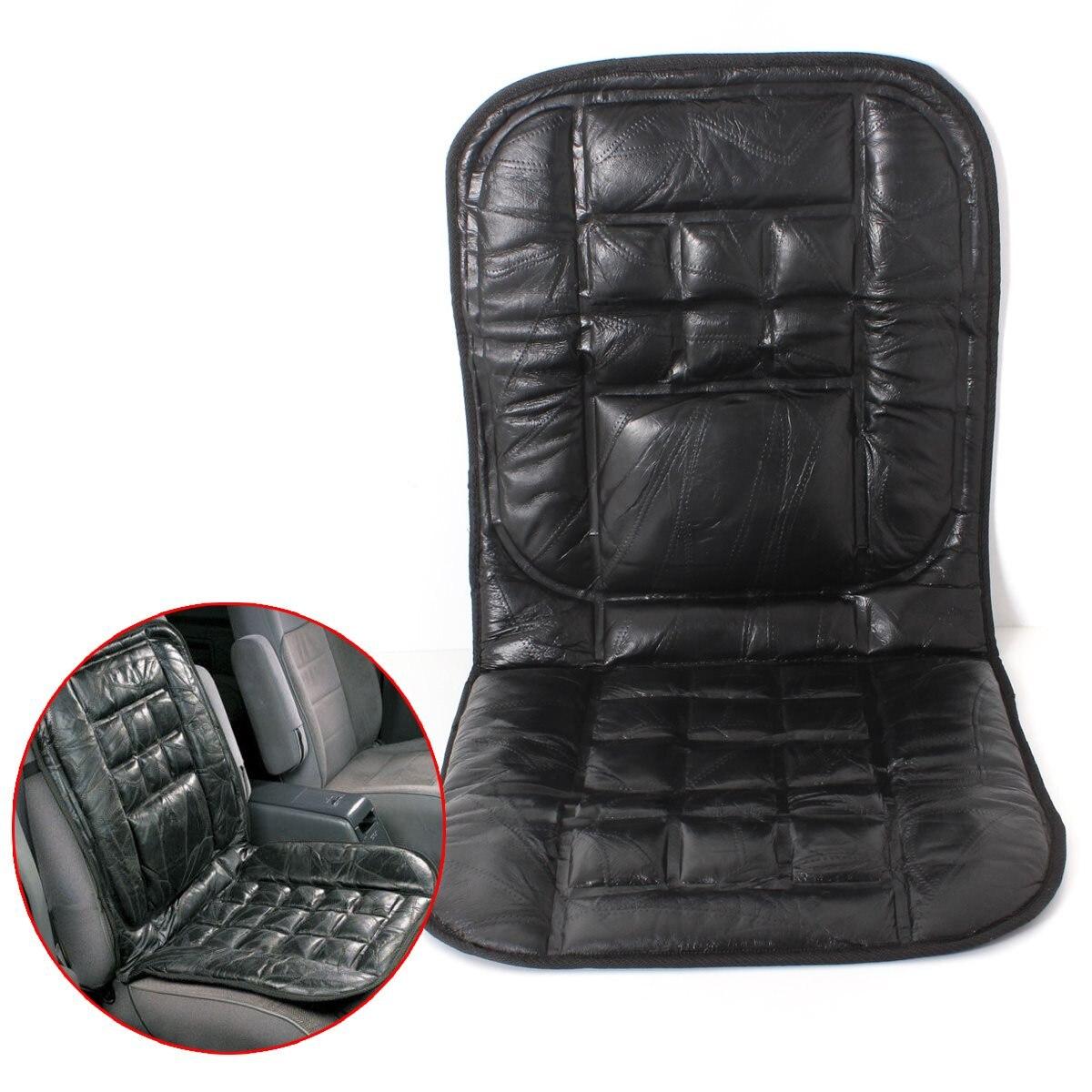 Cuoio universale Supporto Posteriore Anteriore Cushion Seat Cover Sedia Auto Taxi Van Comodo Sedile Pad