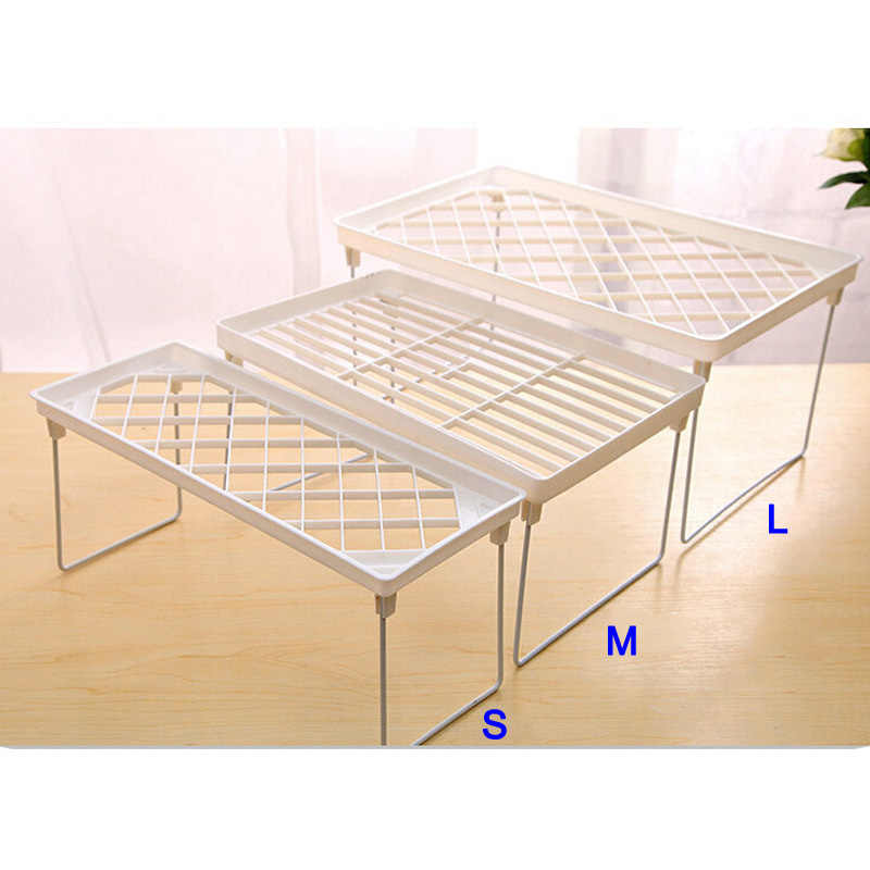 1 Pcs Storage Rack Shelf Foldable Holder Organizer Stackable Kitchen Bathroom Cupboard P7Ding