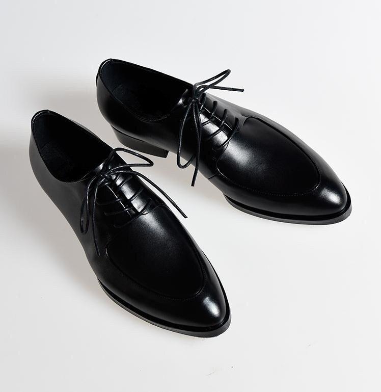 Negócios Couro Trabalho Genuine Black Branco Rendas Sapatos Até white Balck Moda Mens Novas De Apontou Homens Terno Toe Casamento Carreira ORIZZq