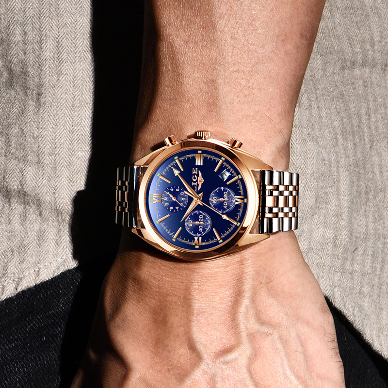 Relogio Masculino 2018 Mens Top Brand LIEG Design Steel Watch Men Military Sports Watch Business Quartz Clock Casual Waterproof все цены