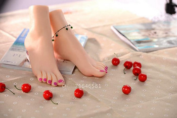 Free shipping!Sexy Female foot display,female realistic lifelike foot mannequin foot fetishism,foot fetishism, Learning manicure