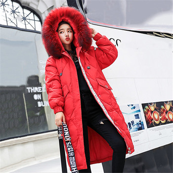 Large Size Cotton Overcoat Winter Women Jacket Thick Warm With Fur Collar Hooded Parkas Slim Female Outerwear Winter Coat LDT733