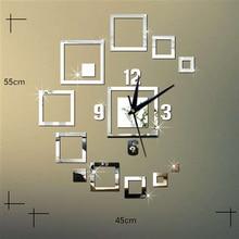 Wall Clocks Mirror 3d Diy Creative Mirror Watches Stereo Acrylic Living Room Bedroom Decoration Wall Clock New Fashion