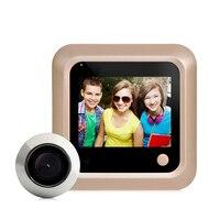 DANMINI 2.4 LCD Color Screen Electronic Door Bell 160 Degree Peephole Viewer Door Camera Doorbell Home Security Camera