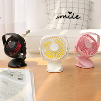2000mAh Built in Battery Mini Desktop Clip Fan 3 Speed Adjustment Summer Cooling Fan Portable USB Ventilator DC9V 3 Colors