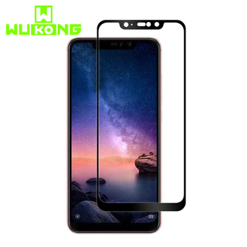 Wukong Full Cover Tempered Glass Protector For Redmi Note 6 Pro 2.5D Arc Edges Curved HD Clear For Xiaomi 8 Scratch Resistant