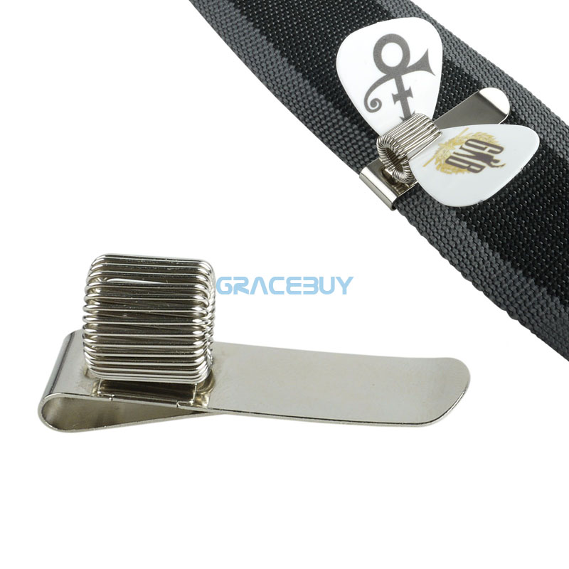 Guitar Strap Pick Holder Metal Hold Plectrums Clip On Strap Musical Instrument New ibanez gst62 bk guitar strap
