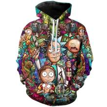 Rick And Morty Hoodies 3D Unisex Sweatshirt Men Brand Hoodie Comic Casual Tracksuit Fashion Hooded Pullover Drop Ship Streetwear(China)