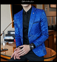 Spring Jacket Men Blazer Masculino Slim Fit Casaco Jaqueta Masculina England Youth Coats Mens Small Suits Black Blue M 3XL CD50