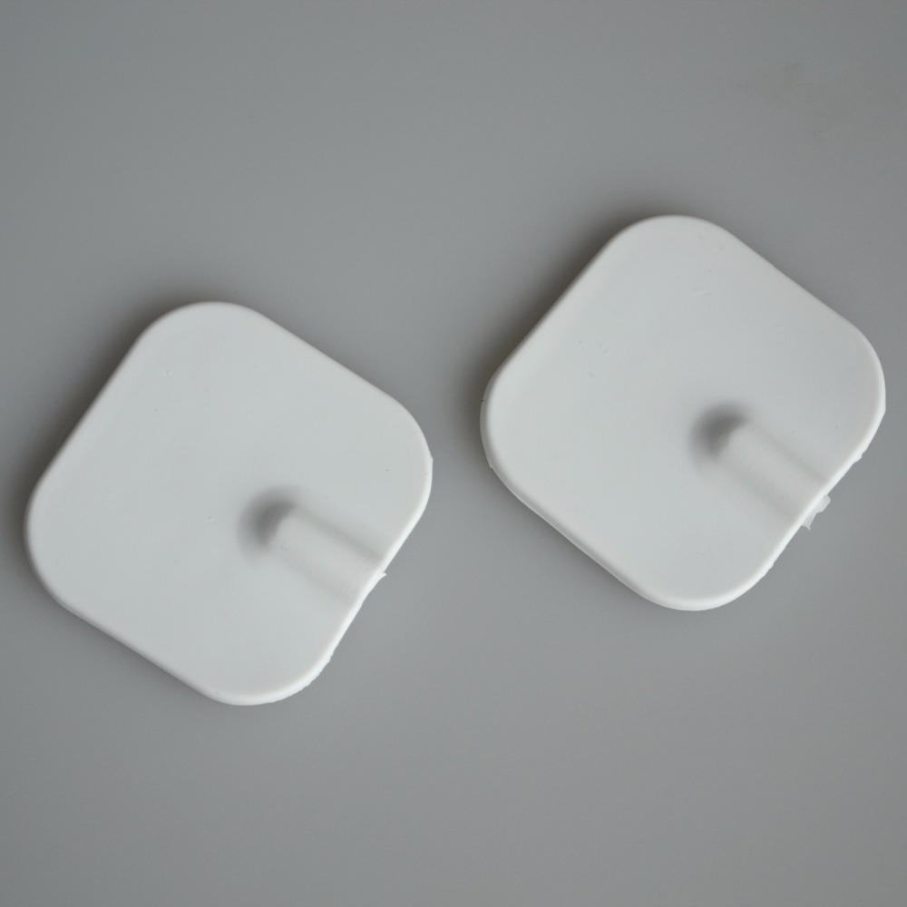 50 Pairs/Pack Physiotherapy Electrode Pads For TENS Muscle Stimulator Massager Patches Pin Type 5*5/4*4cm Square Cohesive hot sale free shipping 50pairs pack nonwoven replacement silcone adhesive tens massager patches physiotherapy electrode pads