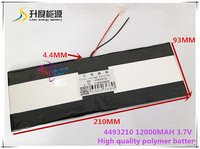 3 7V 12000mAH SD 4493210 Polymer Lithium Ion Li Ion Battery For Tablet Pc AINOL NOVO10