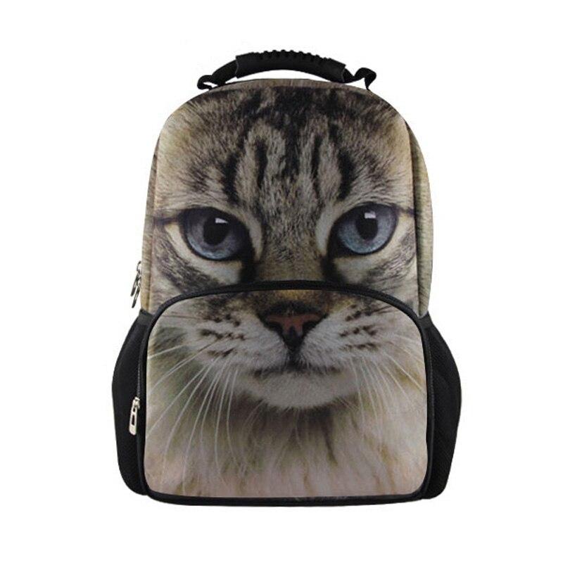 Cute 3D Animal Cat Printing Children School Bags for Teenager Girls Casual Kids Owl Schoolbag Women Book Bag Mochila Escolar