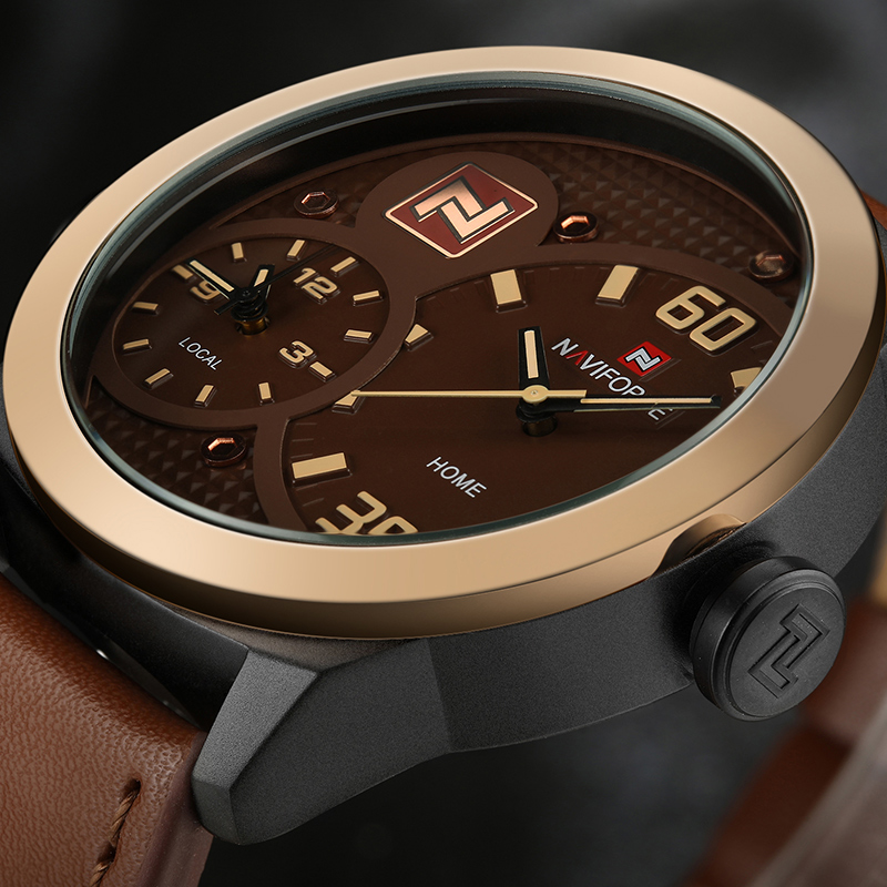 где купить New NAVIFORCE Top Brand Dual Time Sports Watches Men Fashion Quartz Wrist Watch Leather Strap Waterproof Clock Relogio Masculino по лучшей цене