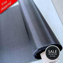 """Spedizione gratuita [grado A] 100% tessuto in fibra di carbonio reale 32 """"/82cm larghezza 3K 5.9oz / 200gsm 2x2 tessuto in twill di carbonio [spedito con ROLL UP]"""