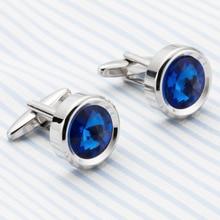 VAGULA Plated Silver plating Blue Crystal Cuff link Fashion