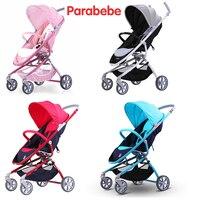 Luxury Baby Stroller Pink Gray Color Baby Pushchair Girls Boys Child Trolley Aluminum Alloy Frame Pram 4 Wheels Jogger Strollers