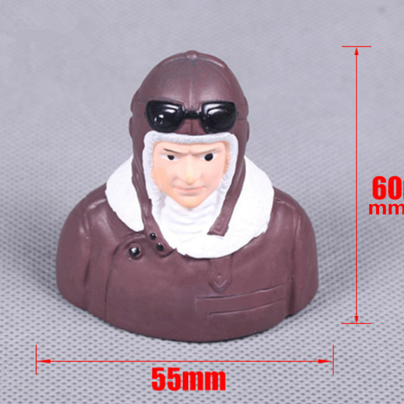 FMS RC Airplane Pilot Figure for 1100mm PT-17 / Waco FMSPilot008 Model Plane Parts willys jeep 1 10