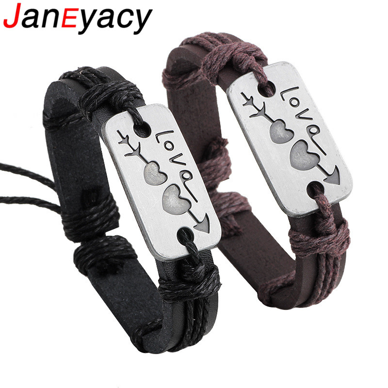 Купить janeyacy 2018 новый индивидуальный кожаный браслет для мужчин