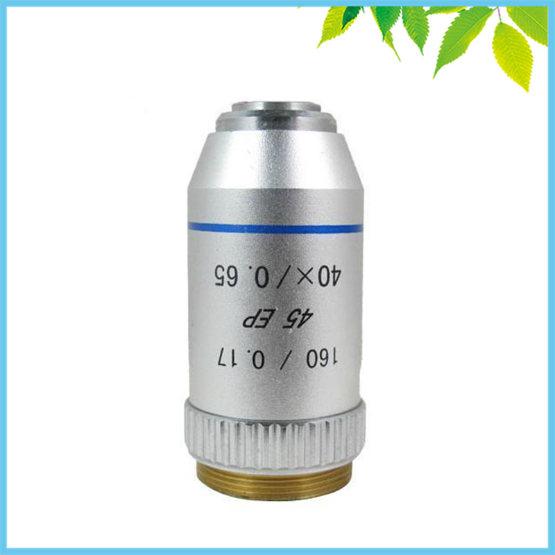 Conjugate Distance 195 Universal Metal 40X Semi Flat-field Achromatic Objective Lens for Biological Microscope